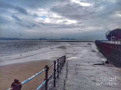Photograph - New Brighton Beach In View Of Liverpoool 2 by Joan-Violet Stretch