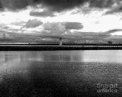 Photograph - New Brighton Mariner In Monochrome by Joan-Violet Stretch