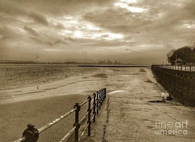 Photograph - New Brighton View In Sepia by Joan-Violet Stretch