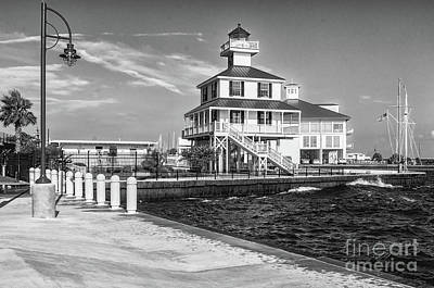 Photograph - New Canal Lighthouse 2 Bw- Nola by Kathleen K Parker