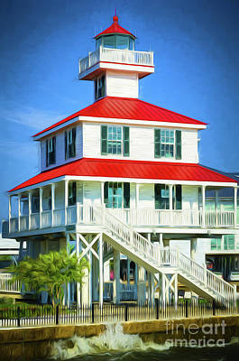 Photograph - New Canal Lighthouse -painted by Kathleen K Parker