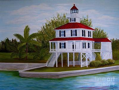 Painting - New Canal Lighthouse by Valerie Carpenter