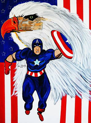 Painting -  Captain America by Nora Shepley