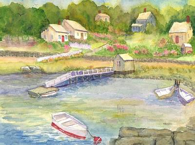 Painting - New Castle Nh Cove  by Roseann Meserve