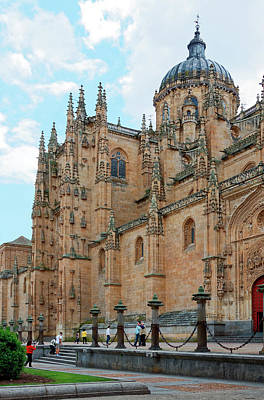 Photograph - New Cathedral Of Salamanca Exterior by Sally Weigand