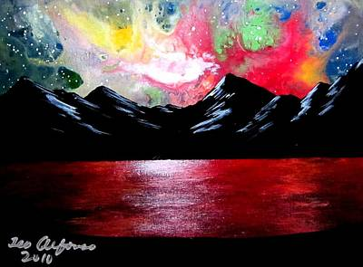Painting - New Colorful Skies by Teo Alfonso