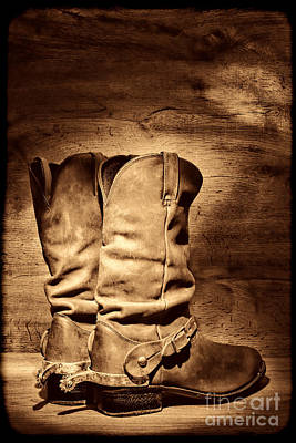 Photograph - New Cowboy Boots by American West Legend By Olivier Le Queinec