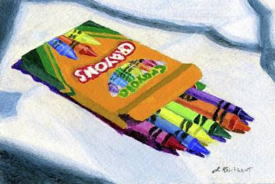 Painting - New Crayons by Lynne Reichhart