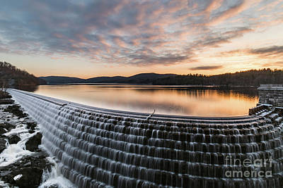 Photograph - New Croton Dam At Sunrise by Zawhaus Photography