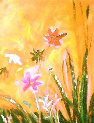 Painting - New Daisies by Winsome Gunning