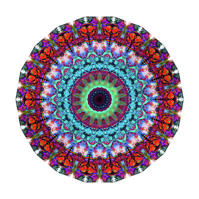 Fractal Painting - New Dawn Mandala Art - Sharon Cummings by Sharon Cummings