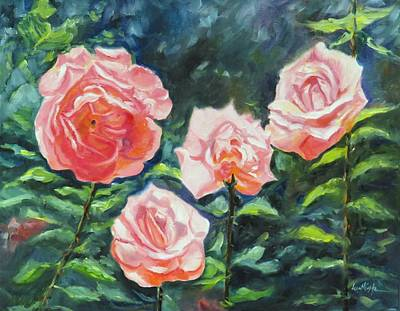 Rambling Painting - New Dawn Roses by Jean Costa