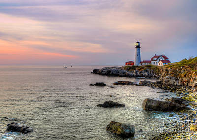 New England Lighthouse Digital Art - New Day At Portland Head Light by Jerry Fornarotto