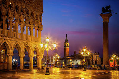 Doges Palace Photograph - New Day At St. Marks by Andrew Soundarajan