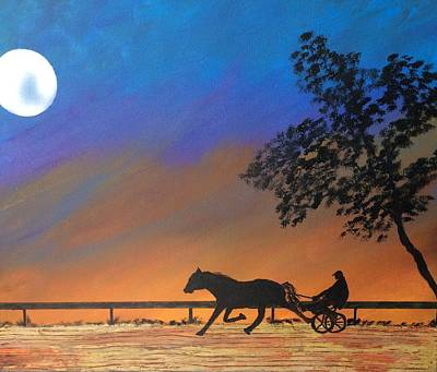Race Horse Painting - New Day Dawning by Richard Fey