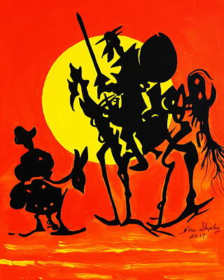 Painting - New Don Quixote by Nora Shepley