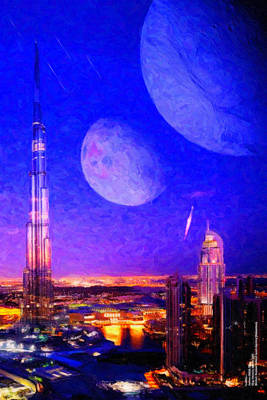 Digital Art - New Dubai On Tau Ceti E by Chuck Mountain