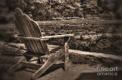 Eames Photograph - New England Adirondack Chair by Mark Valentine