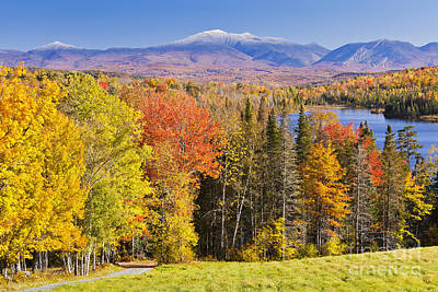 Photograph - New England Autumn Scenic by Alan L Graham