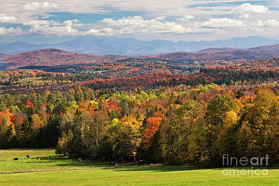 Photograph - New England Autumn View 2 by Alan L Graham