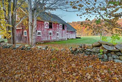 New England Barn 2016 Art Print by Bill Wakeley