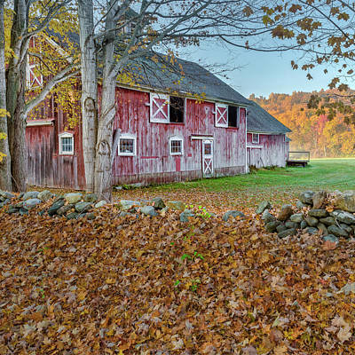 Photograph - New England Barn 2016 Square by Bill Wakeley