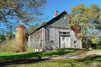 Photograph - New England Barn With Tiled Silo by Betty Denise