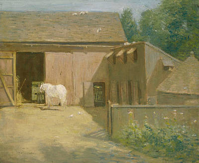 Painting - New England Barnyard by Julian Alden Weir