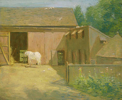 Painting - New England Barnyard by Mountain Dreams