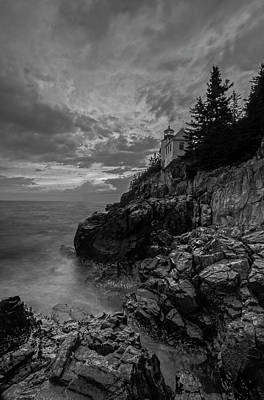 Photograph - New England Black And White Photography Of Bass Harbor Lighthouse  by Juergen Roth
