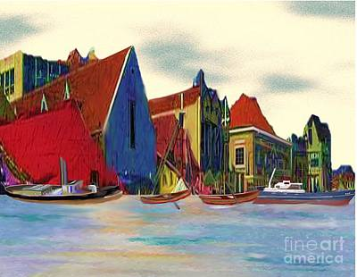 Painting - New England Boat Harbor by Belinda Threeths