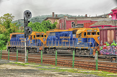 Photograph - New England Central Engines by Mike Martin