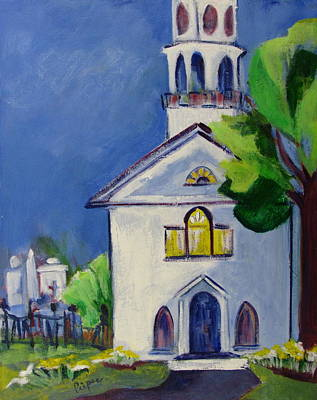 Art Print featuring the painting New England Church by Betty Pieper