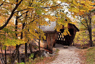 Photograph - New England College No. 63 Covered Bridge  by Betty Pauwels