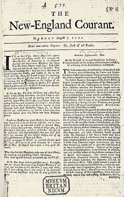 Photograph - New England Courant, 1721 by Granger