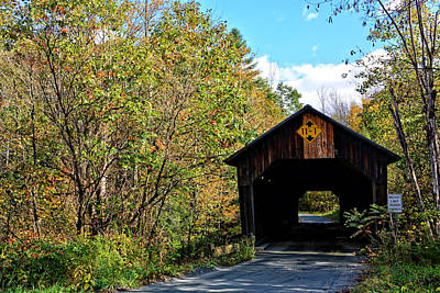 Photograph - New England Covered Bridge by Mike Martin