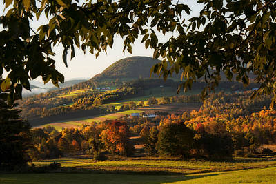 Country Scenes Photograph - New England Fall Foliage - Peacham Vermont by Joann Vitali