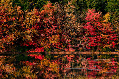 Photograph - New England Fall Foliage Reflection by Jeff Folger