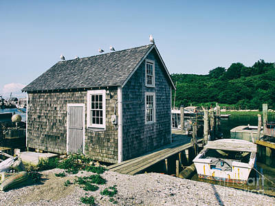 New England Fishing Cabin Art Print by Mark Miller