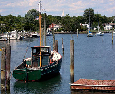 Artist Working Photograph - New England Harbor Summer by Rick Maxwell