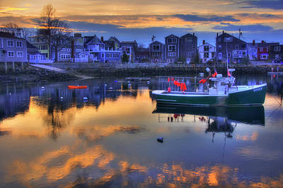 Photograph - New England Harbor Sunset - Rockport, Ma by Joann Vitali