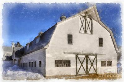 New England Horse Barn South Woodstock Vermont Art Print by Edward Fielding