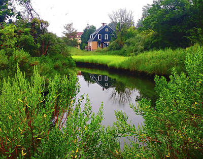 Photograph - New England House And Stream by Roger Bester