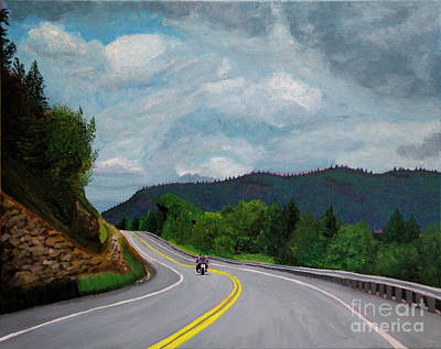 Painting - New England Journeys - Motorcycle 1 by Marina McLain