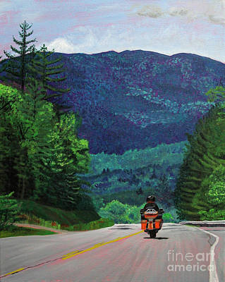 Painting - New England Journeys - Motorcycle 2 by Marina McLain