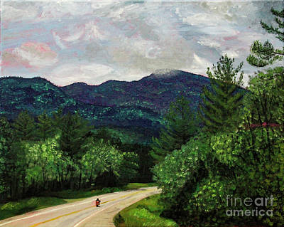 Painting - New England Journeys - Motorcycle 3 by Marina McLain