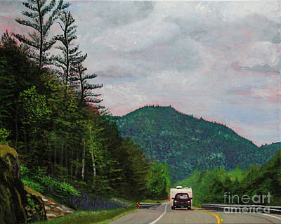 Painting - New England Journeys - Truck With Trailer by Marina McLain