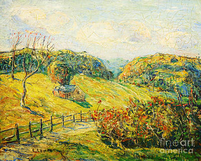 Painting - New England Landscape by Celestial Images