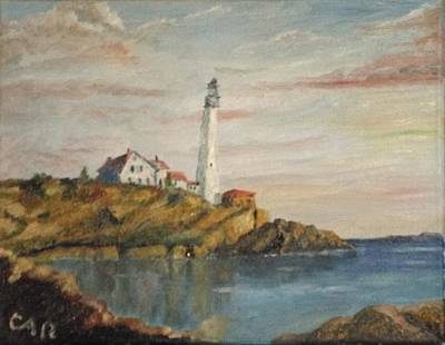 Painting - New England Lighthouse by Charles Ray