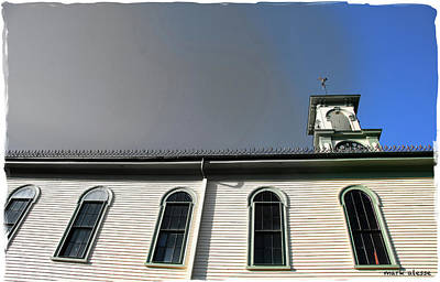 Photograph - New England Meeting House by Mark Alesse